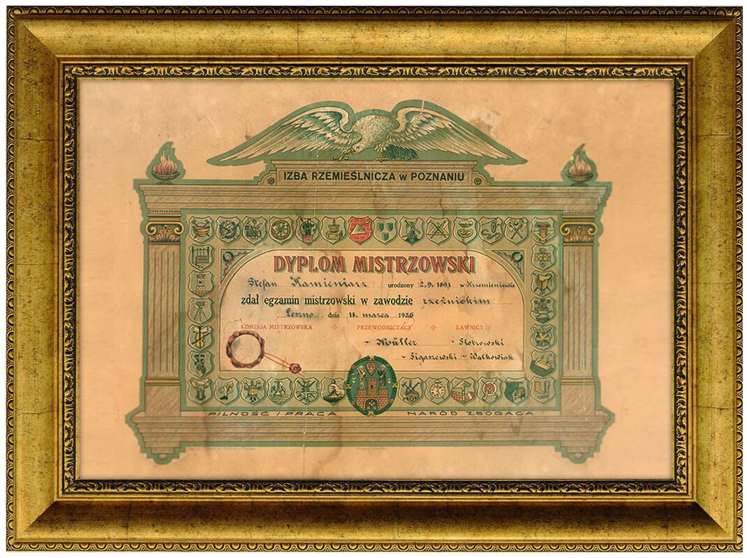 Dyplom Mistrzowski - Kaminiarz
