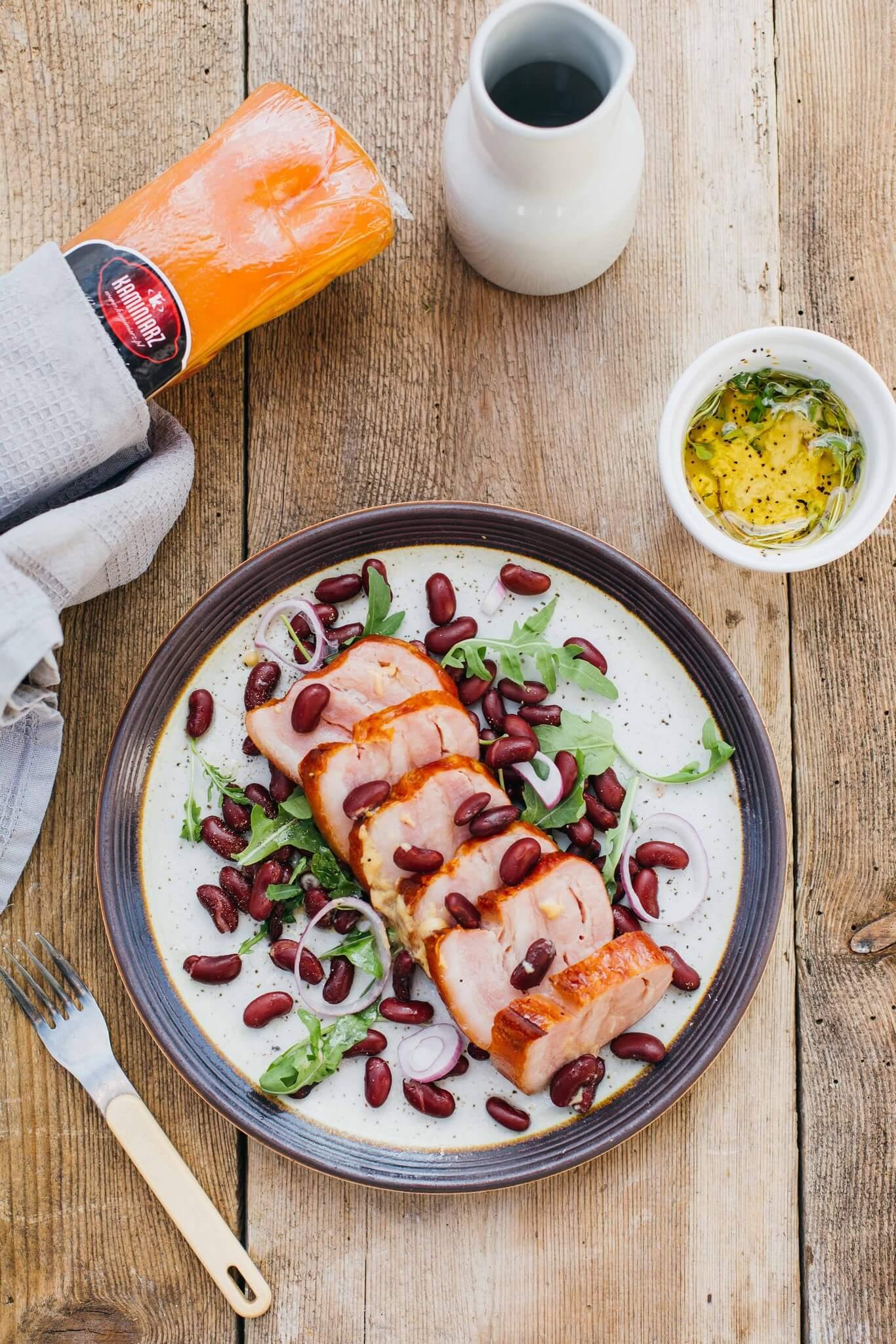 salatka z boczkiem czerwona fasola w sosie czosnkowym4