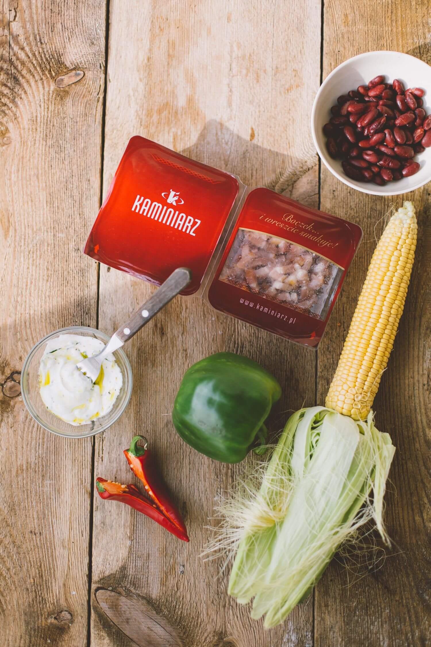 salatka meksykanska z bekonem i chili